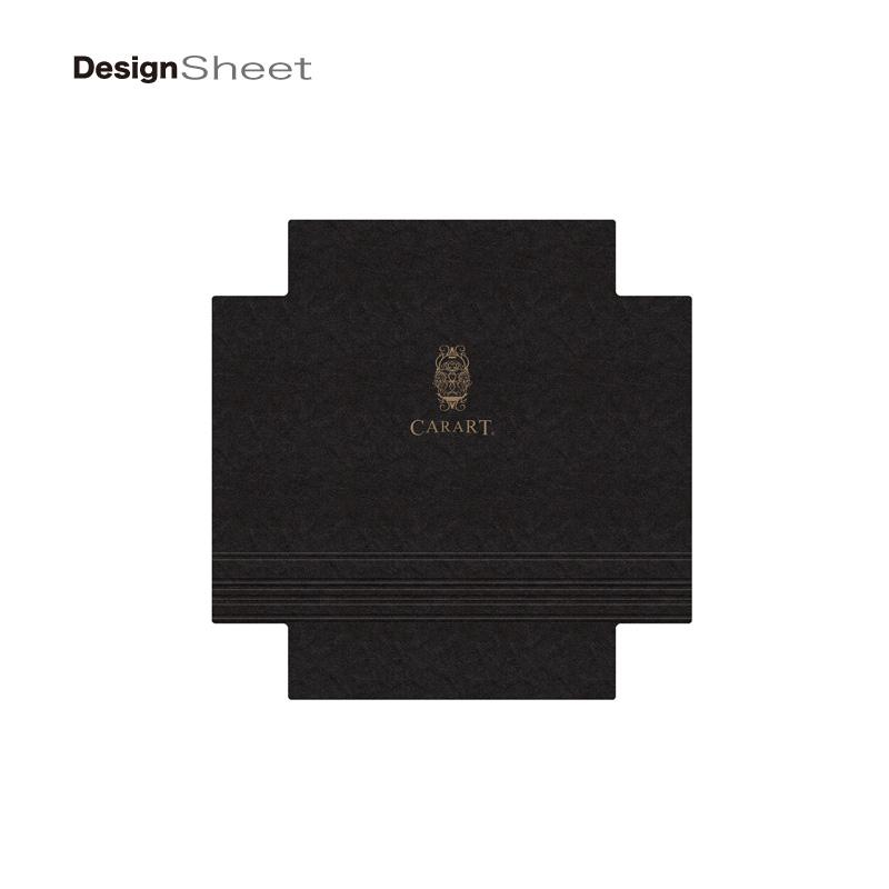 キャラート|着せ替えデザインシート|ビジネス ナイト ダークグレー|アートスーツケース CR-B01用