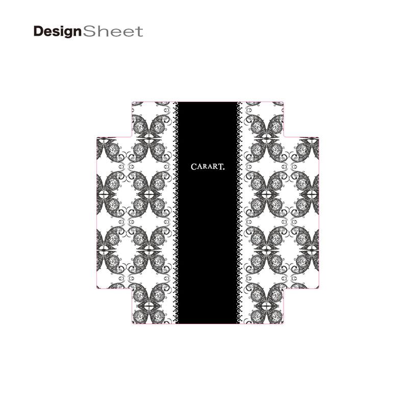 キャラート|着せ替えデザインシート|ベーシック クイーン レースブラック|アートスーツケース CR-B01用