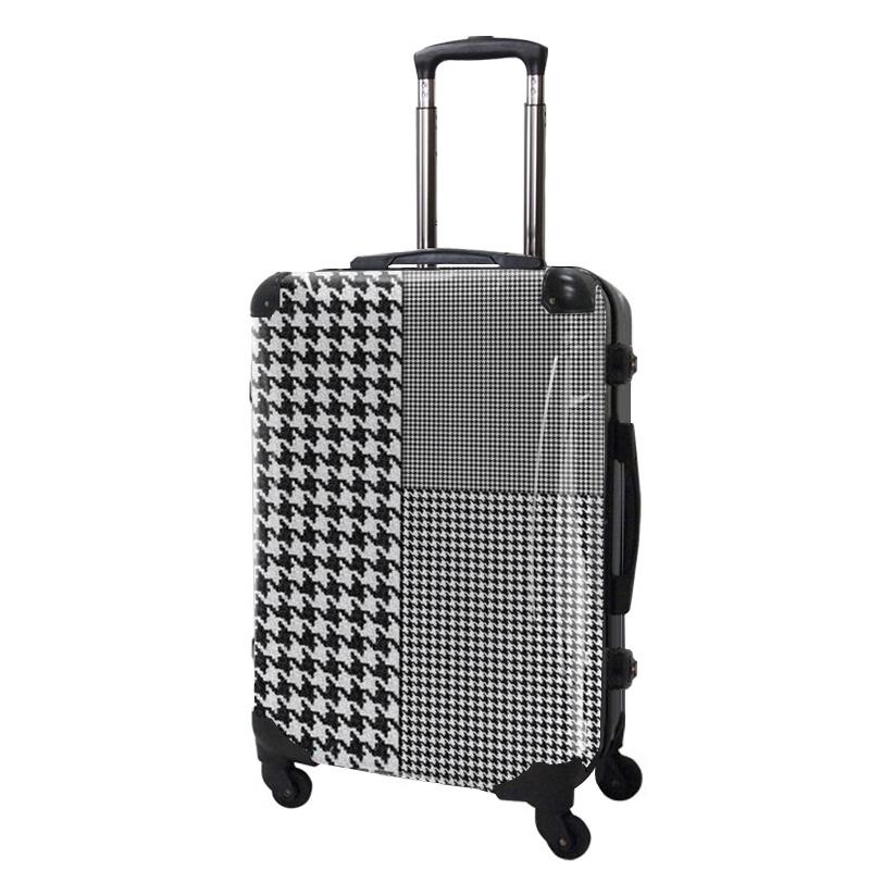 アートスーツケース|ベーシック  千鳥格子(モノトーン1)|フレーム4輪|63L|キャラート