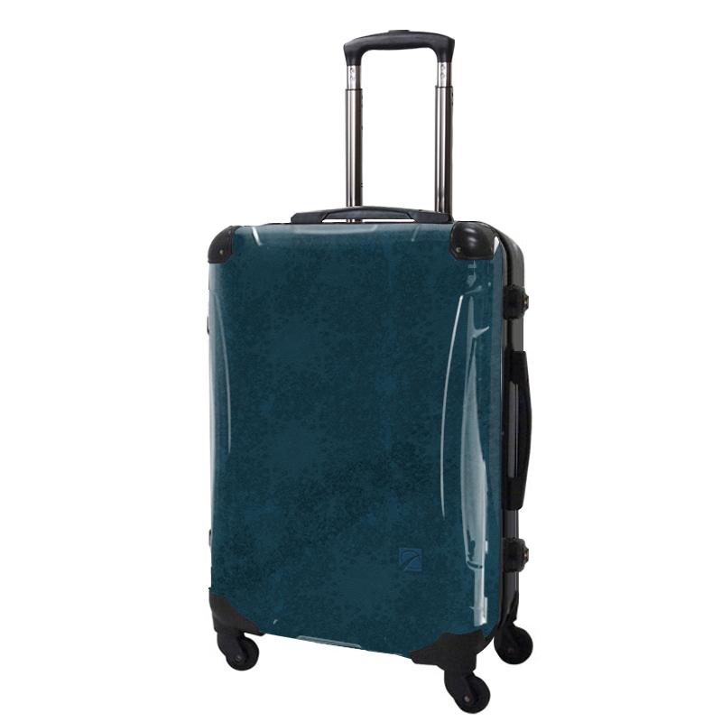 アートスーツケース|ポップニズム エルプラス(ネイビー)|フレーム4輪|63L|キャラート
