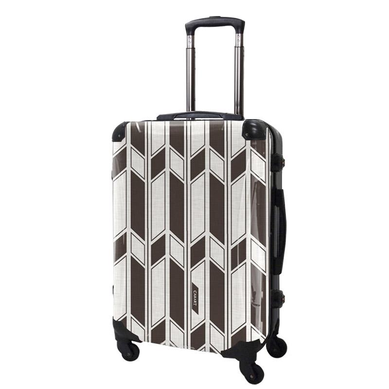アートスーツケース ジャパニーズ旅趣   麻織(麦煎色) 和柄 フレーム4輪 63L キャラート