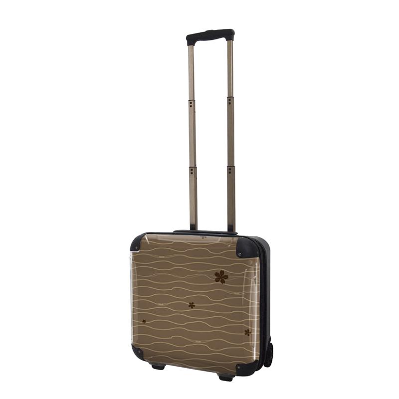 アートスーツケース ジャパニーズ旅趣 小桜(ブラウン) ジッパー2輪 機内持込 キャラート