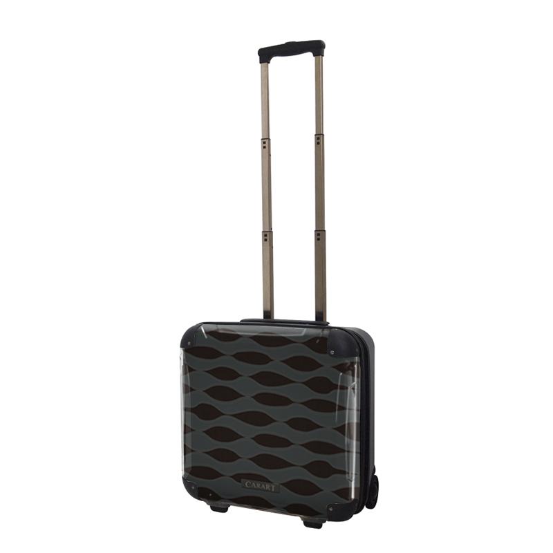 アートスーツケース|ジャパニーズ旅趣|波線織(ダークグレー)|ジッパー2輪|機内持込|キャラート