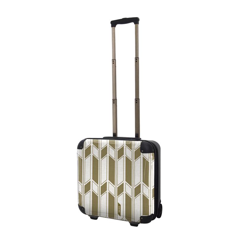 アートスーツケース ジャパニーズ旅趣 麻織(琥珀色) ジッパー2輪 機内持込 キャラート