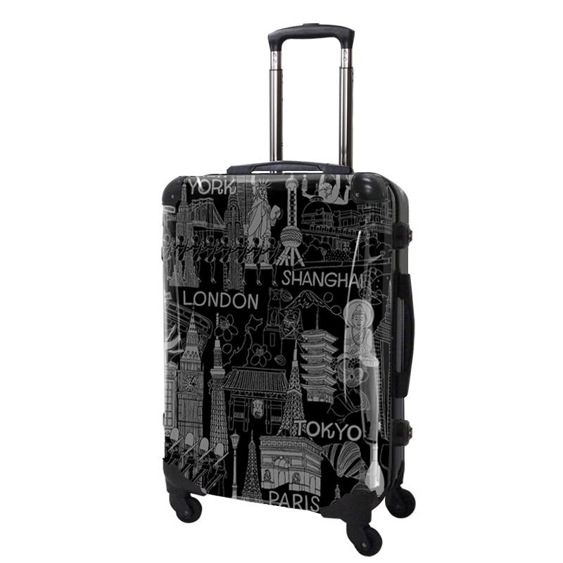 アートスーツケース|ポップニズム  シティ(グレ−×ブラック)|フレーム4輪|63L|キャラート