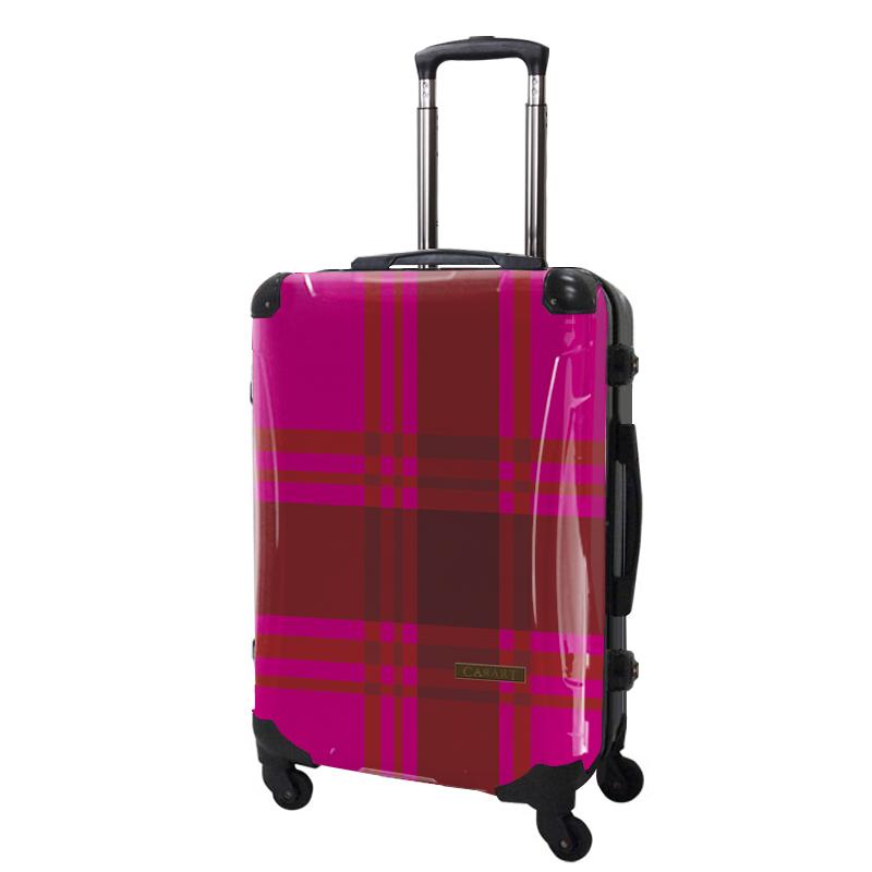 アートスーツケース|ベーシック  カラーチェックモダン(ピンク5)|フレーム4輪|63L