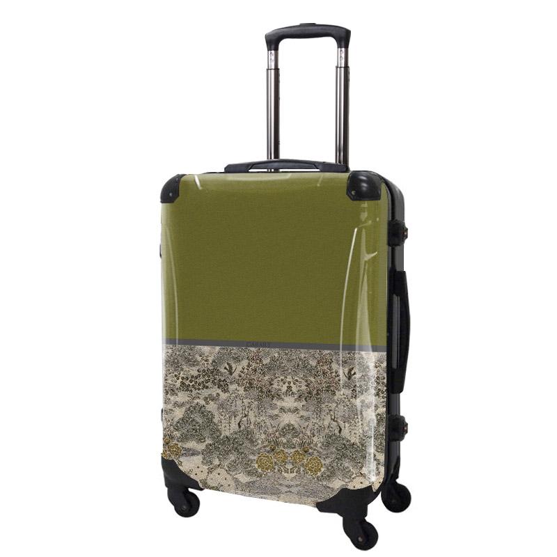 アートスーツケース|ジャパニーズモダン 旅人(グリーン)|フレーム4輪|63L