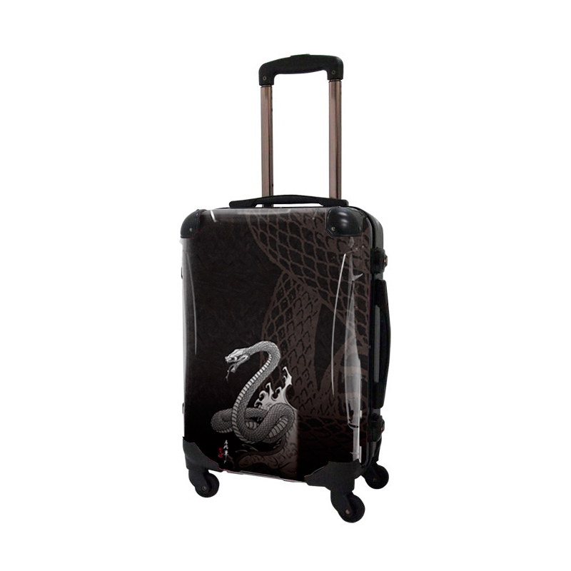 アートスーツケース|広純 snake|フレーム4輪|機内持込|キャラート