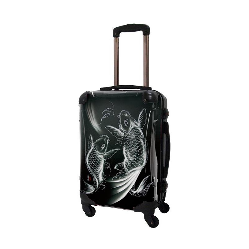 アートスーツケース|広純 鯉恵(ダークグレー)|フレーム4輪|機内持込|キャラート