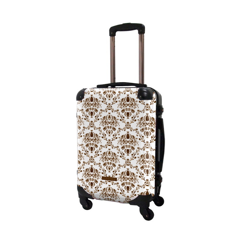 アートスーツケース|ベージック ヴォイジュ(ホワイト)|フレーム4輪|機内持込|キャラート