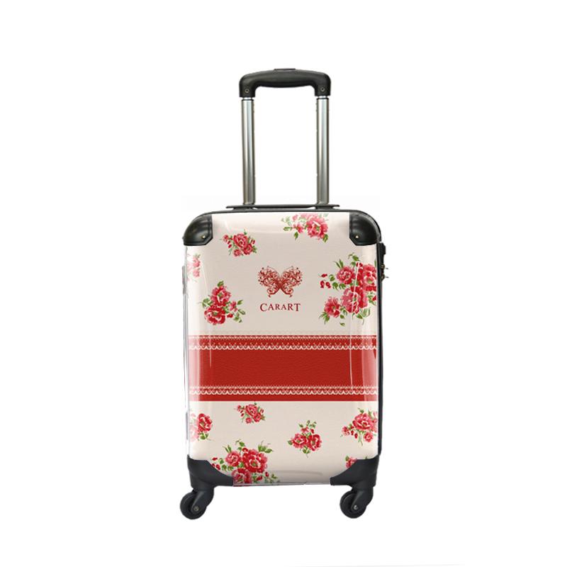 キャラート|アートスーツケース|プロフィトロール フラワースプレー(ボルドー)|ジッパー4輪|機内持込