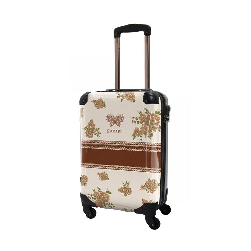 キャラート|アートスーツケース|プロフィトロール フラワースプレー(コハク)|ジッパー4輪|機内持込