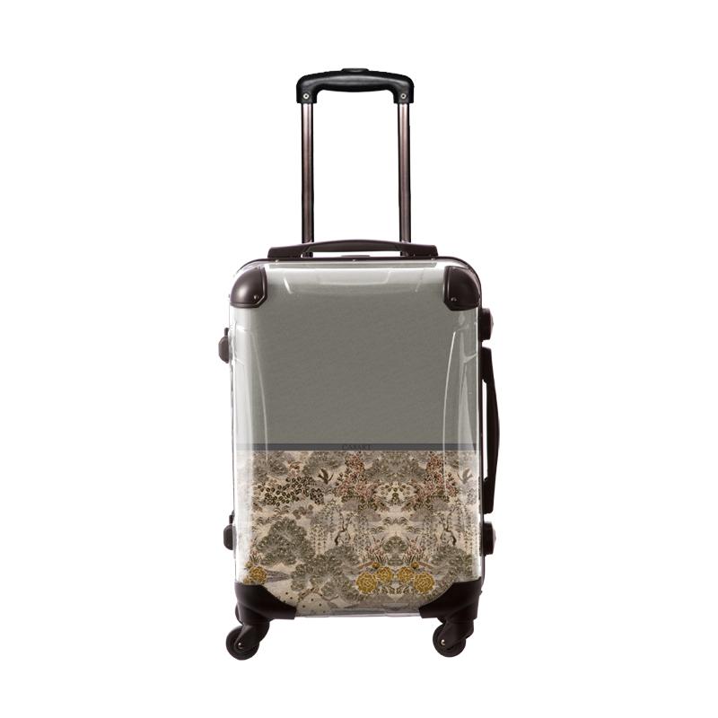 アートスーツケース|ジャパニーズモダン 旅人(ライトグレー)|フレーム4輪|機内持込|キャラート