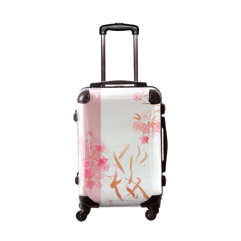 アートスーツケース|古屋育子 桜帯|フレーム4輪|機内持込|キャラート