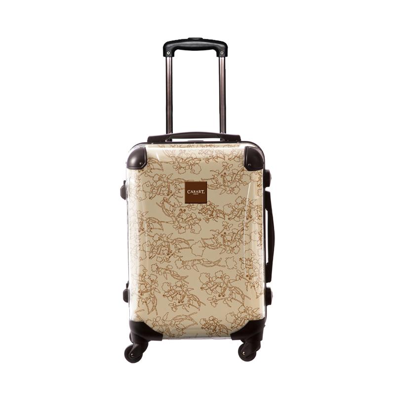 アートスーツケース|ベーシック デパーチャーズ(ライトブラウン)|フレーム4輪|機内持込|キャラート