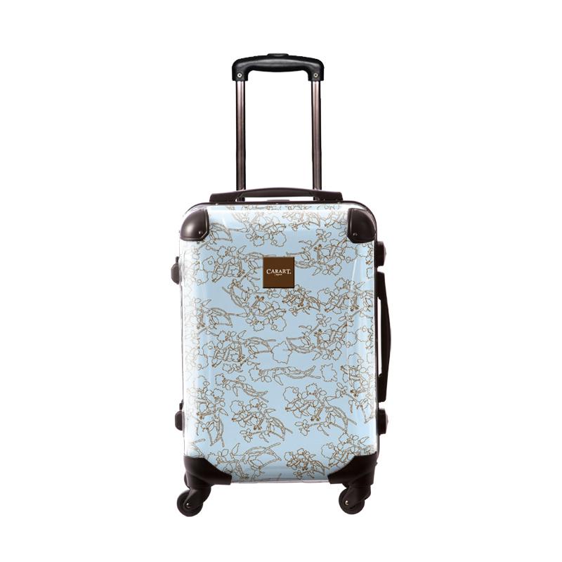 アートスーツケース ベーシック デパーチャーズ(ライトブルー) フレーム4輪 機内持込 キャラート