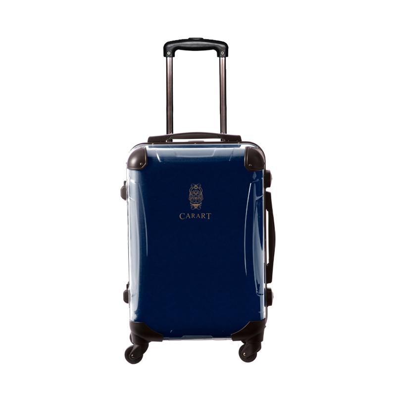 アートスーツケース|ビジネス ナイト(ネイビー)|フレーム4輪|機内持込|キャラート