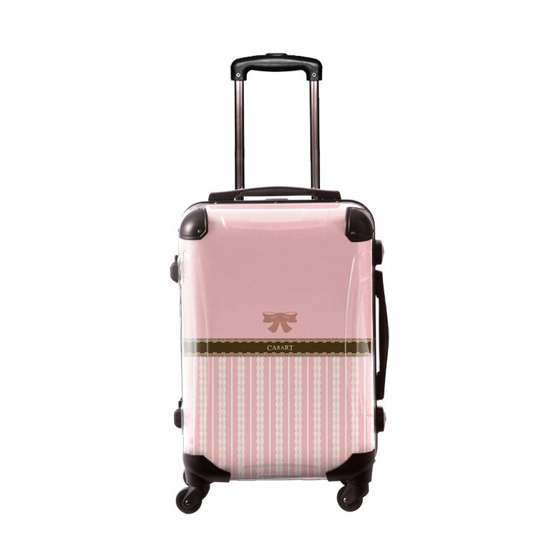 アートスーツケース プロフィトロール バニラ(桜色) フレーム4輪 機内持込 キャラート