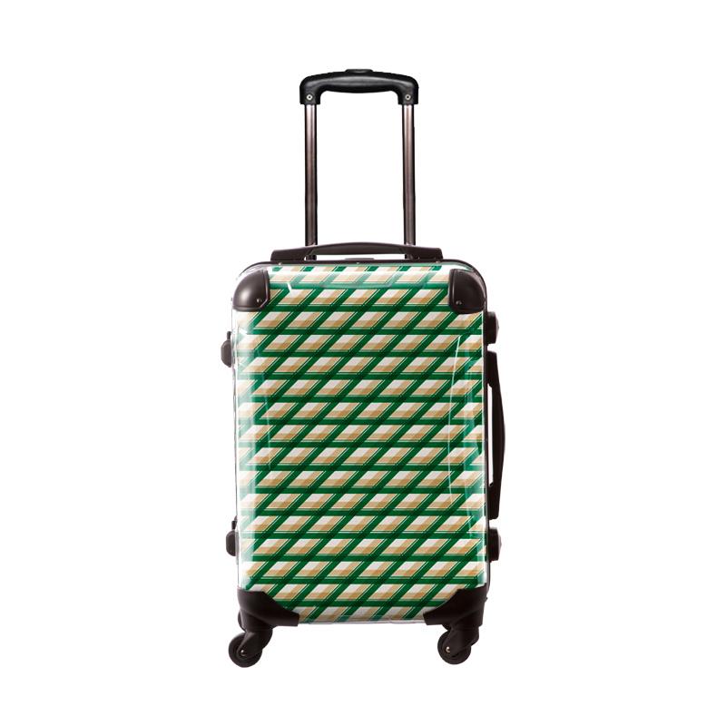 アートスーツケース|ベーシック  カウボーイタータン(グリーン)|フレーム4輪|機内持込|キャラート