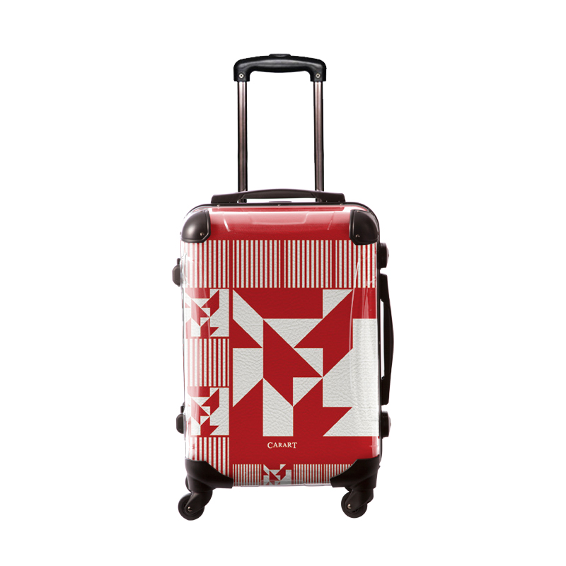 アートスーツケース ポップニズム ノベル(ダークレッド×ホワイト) フレーム4輪 機内持込 キャラート