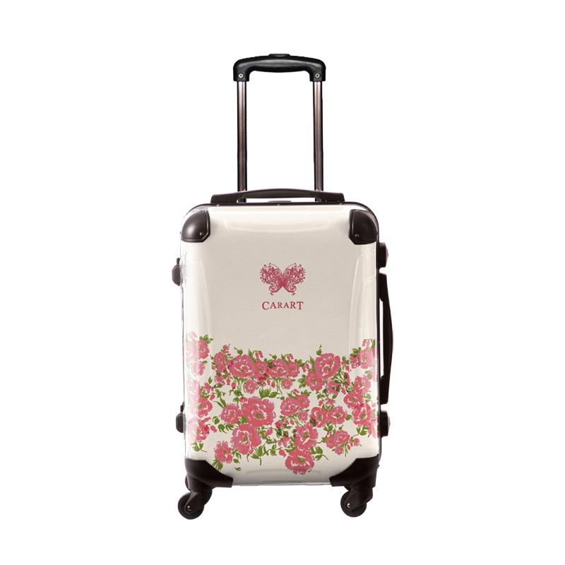 アートスーツケース|プロフィトロール フラワー(ホリデイピンク)|フレーム4輪|機内持込|キャラート