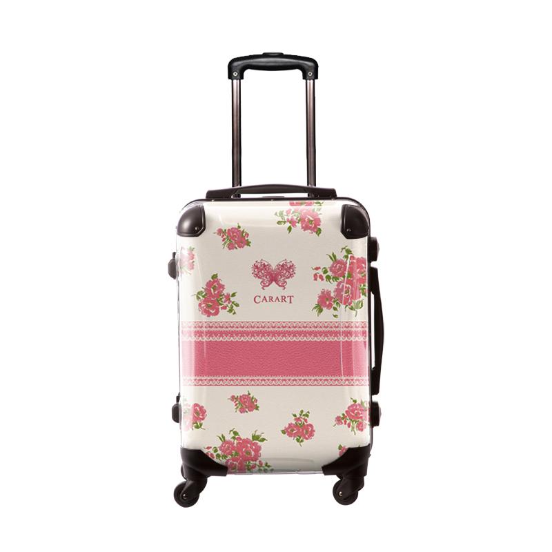 アートスーツケース|プロフィトロール フラワースプレー(ホリディピンク)|フレーム4輪|機内持込|キャラート