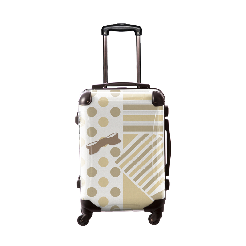 アートスーツケース|プロフィトロール ポポ(ベージュ)|フレーム4輪|機内持込|キャラート