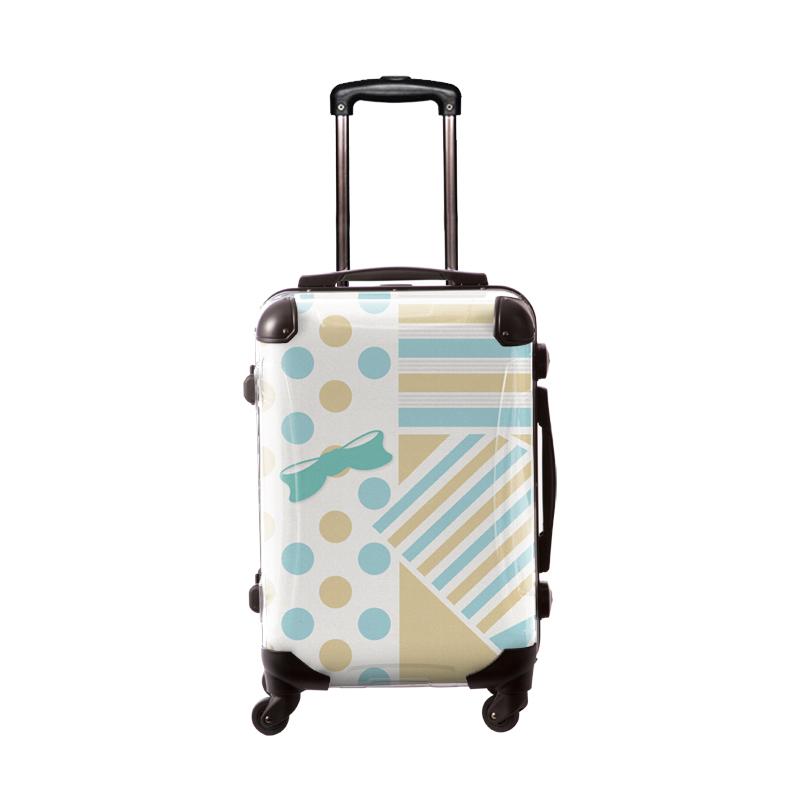 アートスーツケース|プロフィトロール ポポ(ブルー)|フレーム4輪|機内持込|キャラート