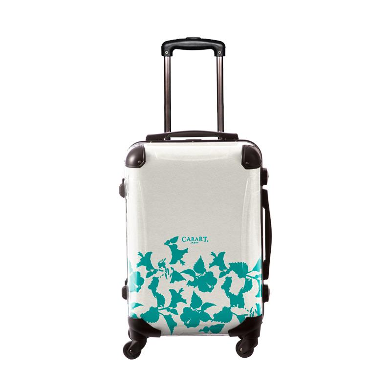 アートスーツケース|ベーシック ピポパ(リーフエメラルド)|フレーム4輪|機内持込|キャラート