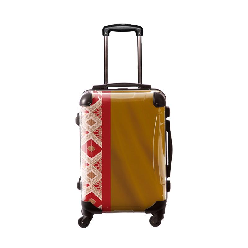 アートスーツケース|ジャパニーズモダン 旅化(ゴールド)|フレーム4輪|機内持込|キャラート