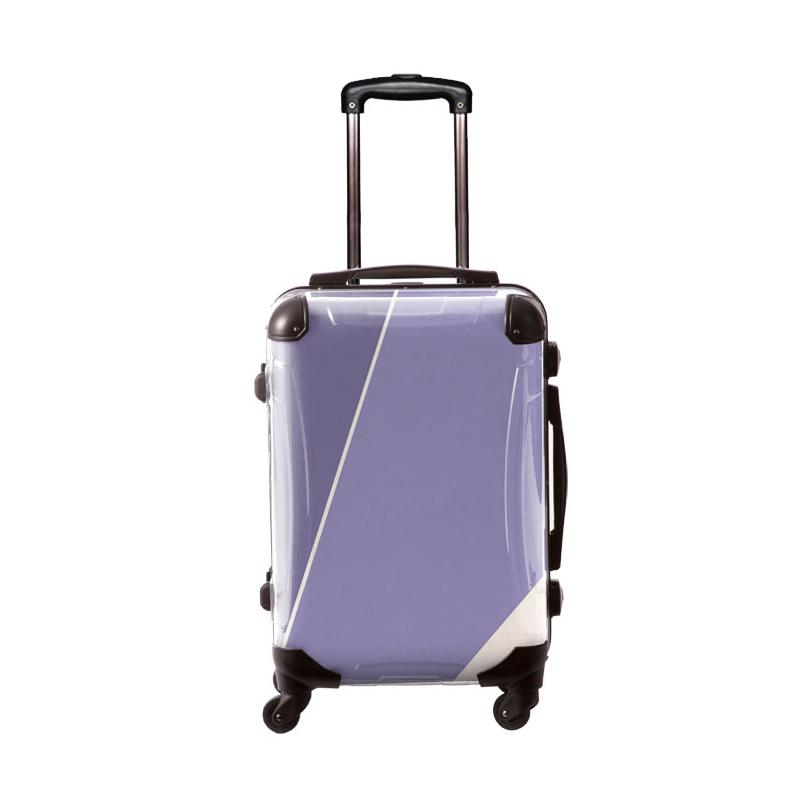 アートスーツケース ベーシック  シューティカルコーデ(パープル ヘイズ×バイオレット チューリップ) フレーム4輪 機内持込 キャラート