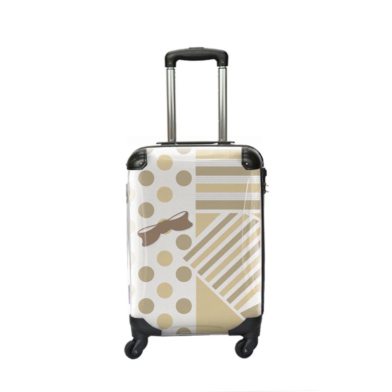 アートスーツケース|プロフィトロール ポポ(ベージュ)|ジッパー4輪|機内持込|キャラート