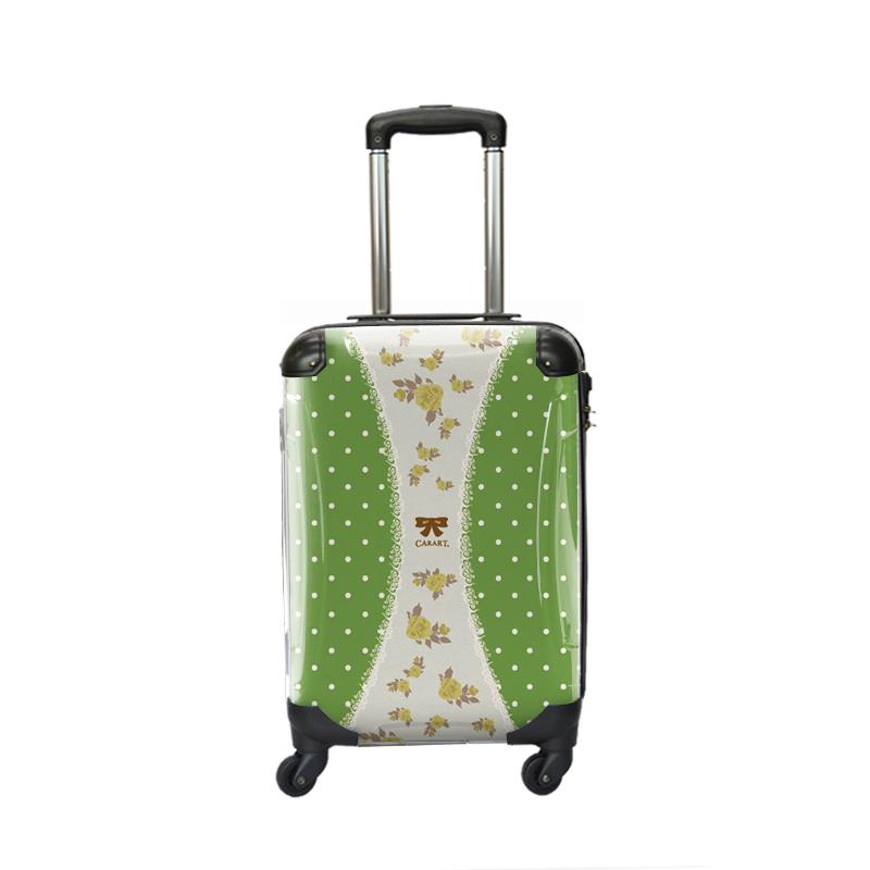 アートスーツケース|プロフィトロール ゆるり1(抹茶色)|ジッパー4輪|機内持込|キャラート