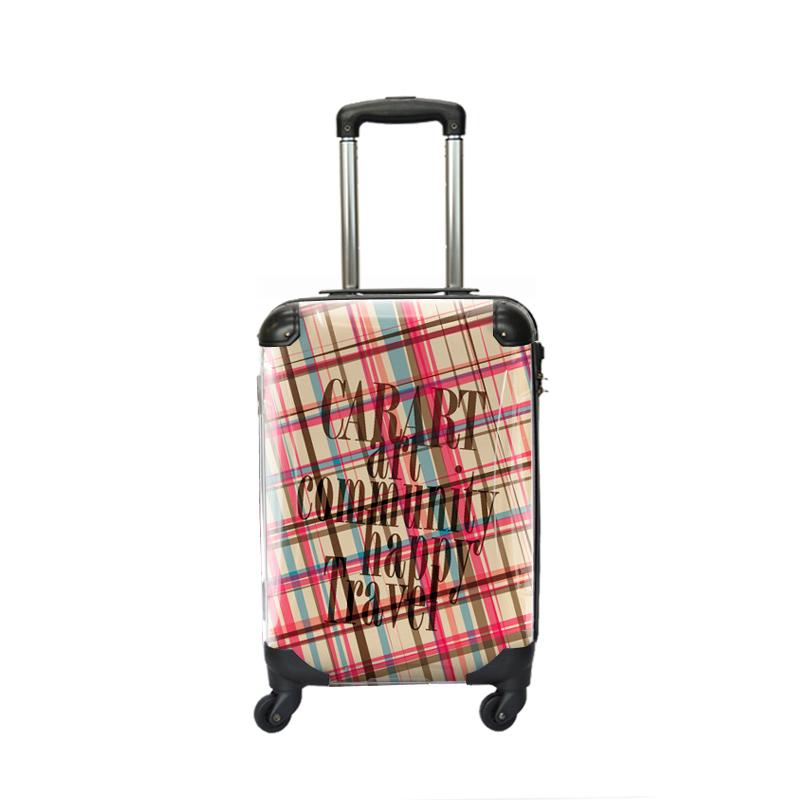 アートスーツケース|ベーシック マドラスチェック(ピンクマドラス)|ジッパー4輪|機内持込|キャラート