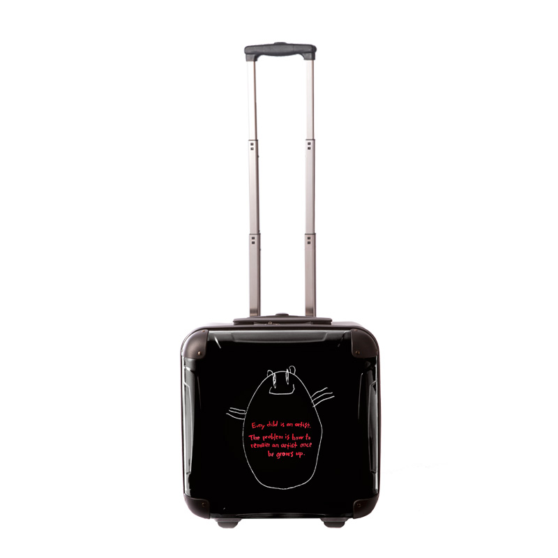 アートスーツケース|タカヘイモトコ 猫|ジッパー2輪|機内持込|キャラート