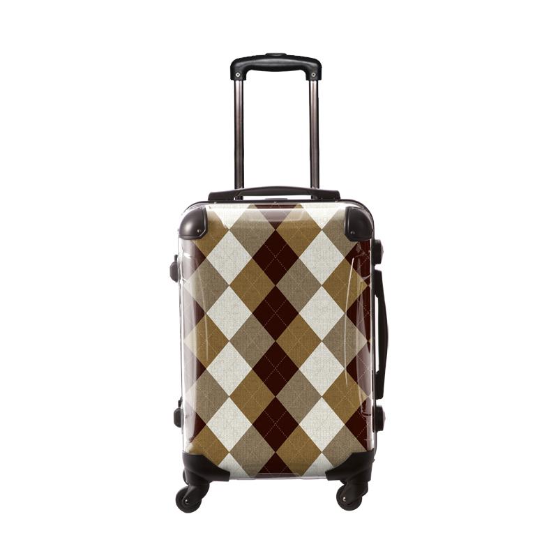 アートスーツケース|アーガイルツイスト(ブラウンミックス×オフホワイト)|フレーム4輪|機内持込|キャラート