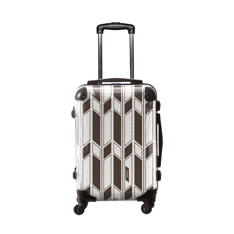アートスーツケース|ジャパニーズ旅趣 |麻織  麦煎色|フレーム4輪|機内持込|キャラート