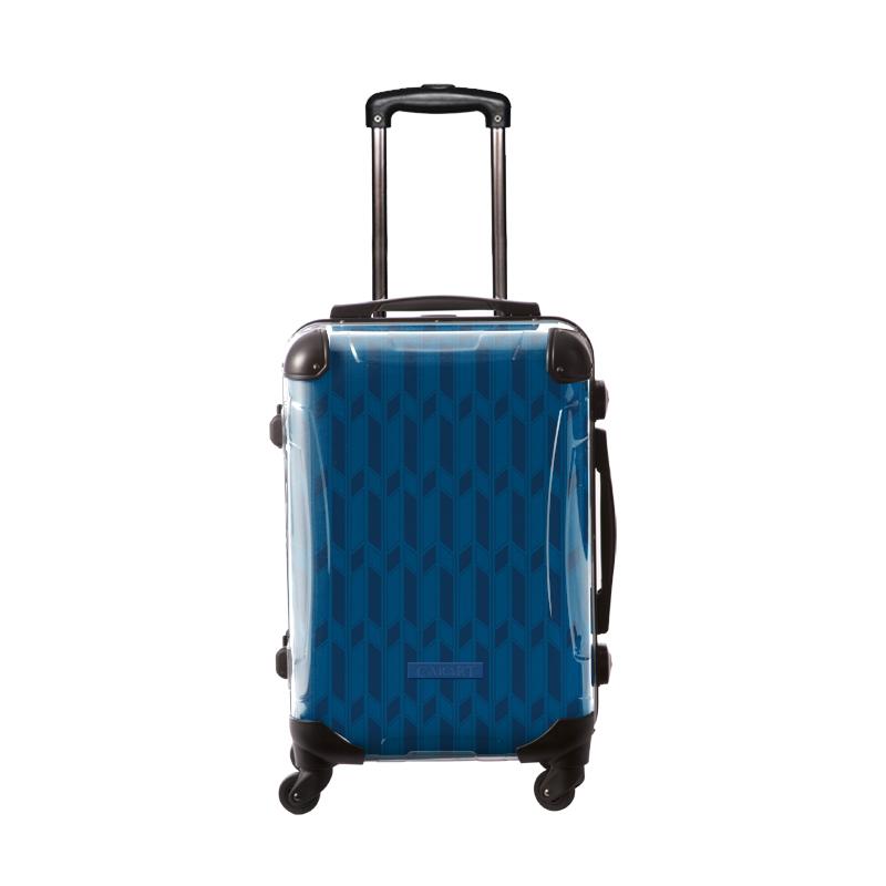 アートスーツケース ジャパニーズ旅趣  麻羽織  紺色 フレーム4輪 機内持込 キャラート