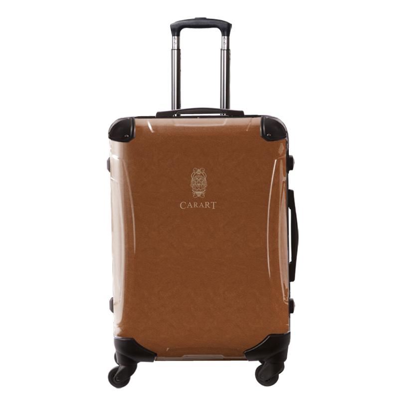 アートスーツケース|ビジネス ナイト(ライトブラウン)|フレーム4輪|63L|キャラート
