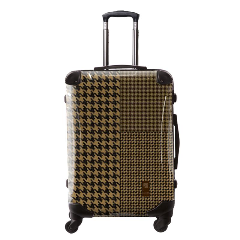 アートスーツケース|ベーシック  千鳥格子(ブラウン)|フレーム4輪|63L|キャラート