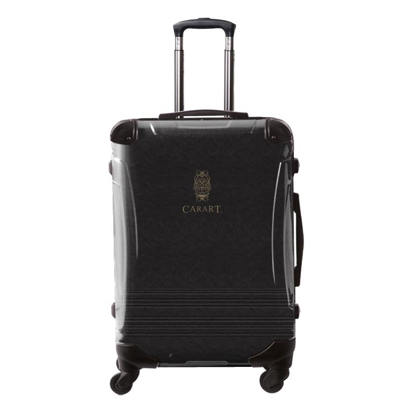 アートスーツケース|ビジネス ナイト(ダークグレー)|フレーム4輪|63L|キャラート