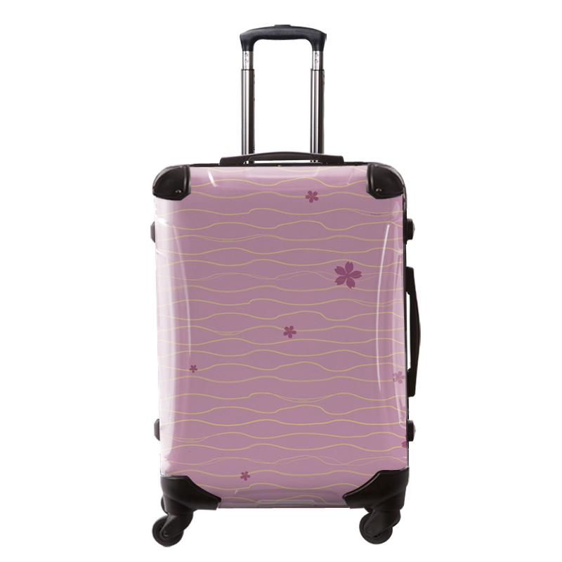 アートスーツケース|ジャパニーズ旅趣 |小桜(ピンク)|和柄|フレーム4輪|63L|キャラート