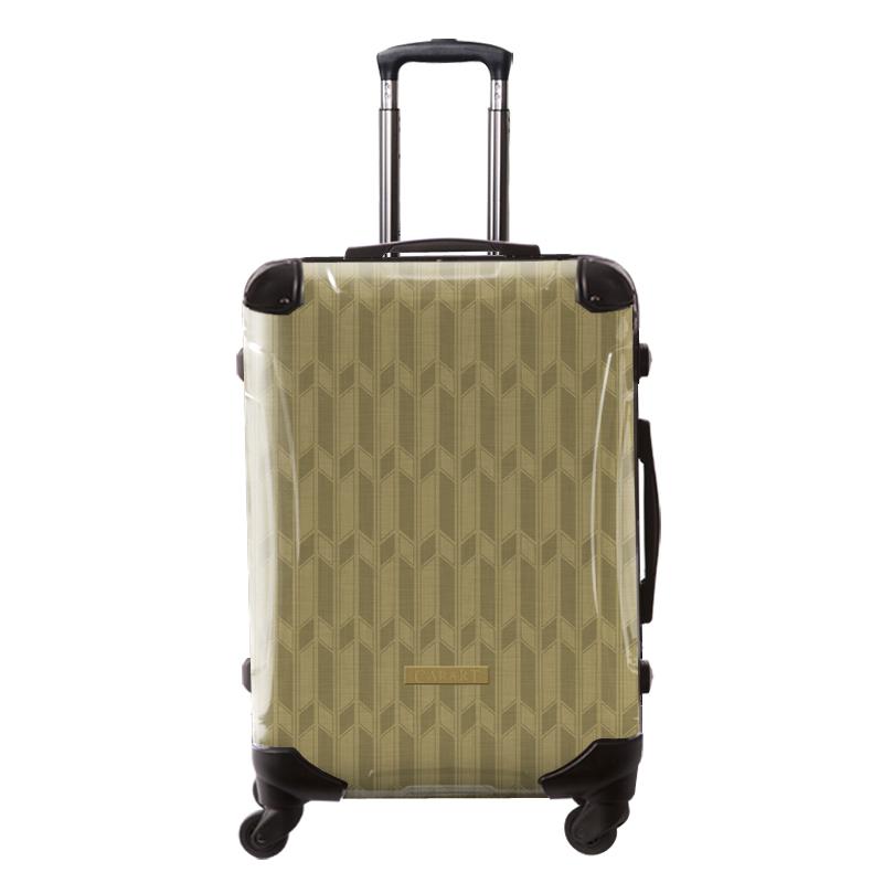 アートスーツケース|ジャパニーズ旅趣 | 麻羽織(琥珀色)|和柄|フレーム4輪|63L|キャラート