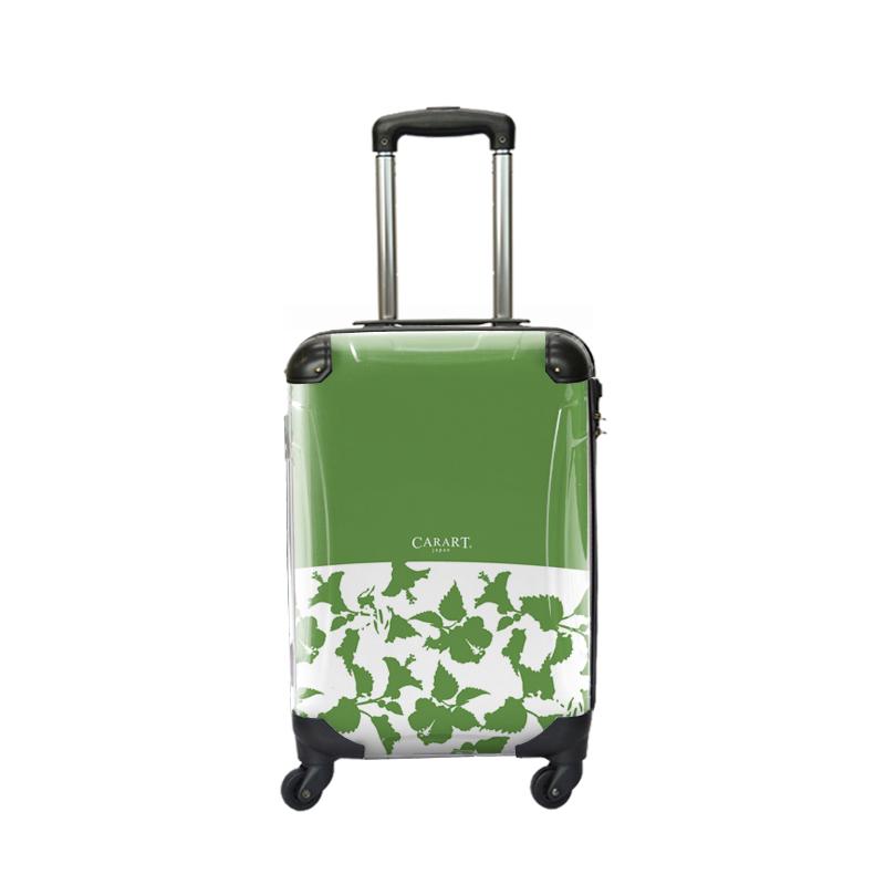 キャラート|アートスーツケース|ベーシック ピポパ(グリーンティ)|ジッパー4輪|機内持込