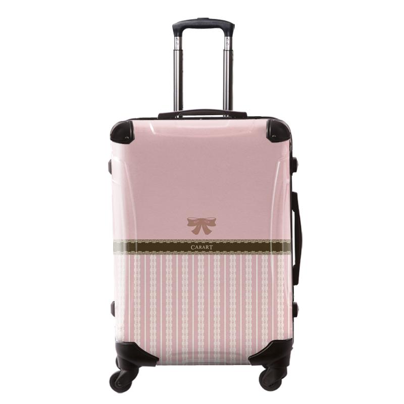 アートスーツケース|プロフィトロール バニラ(桜色)|フレーム4輪|63L|キャラート