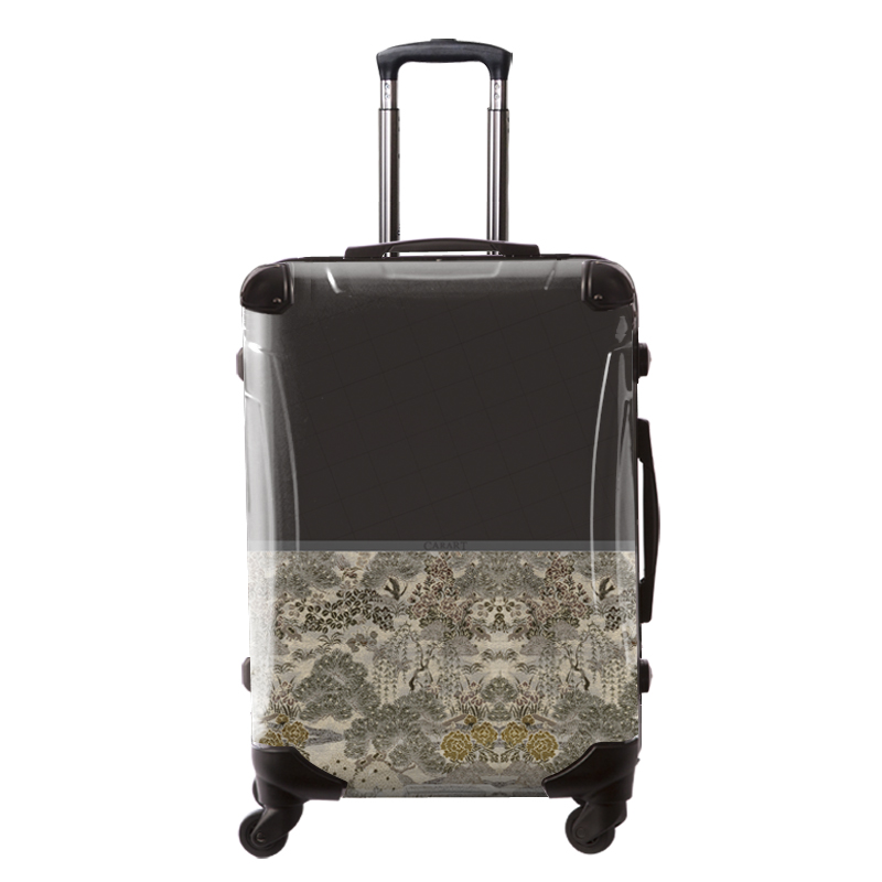 アートスーツケース|ジャパニーズモダン 旅人(ダークグレー)|フレーム4輪|63L
