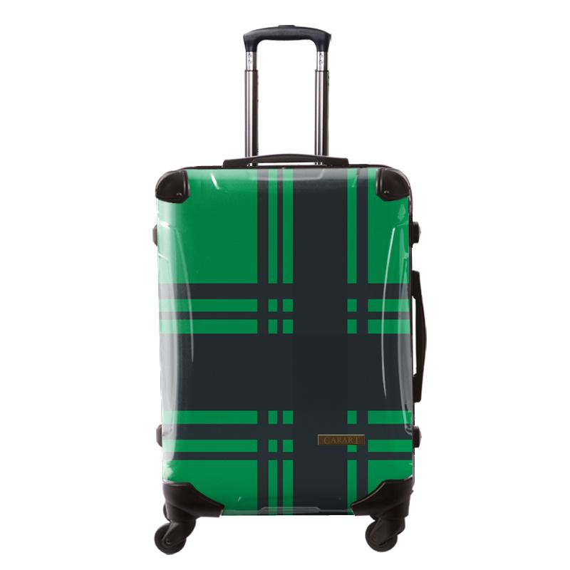 アートスーツケース ベーシック   カラーチェックモダン(グリーン5) フレーム4輪 63L