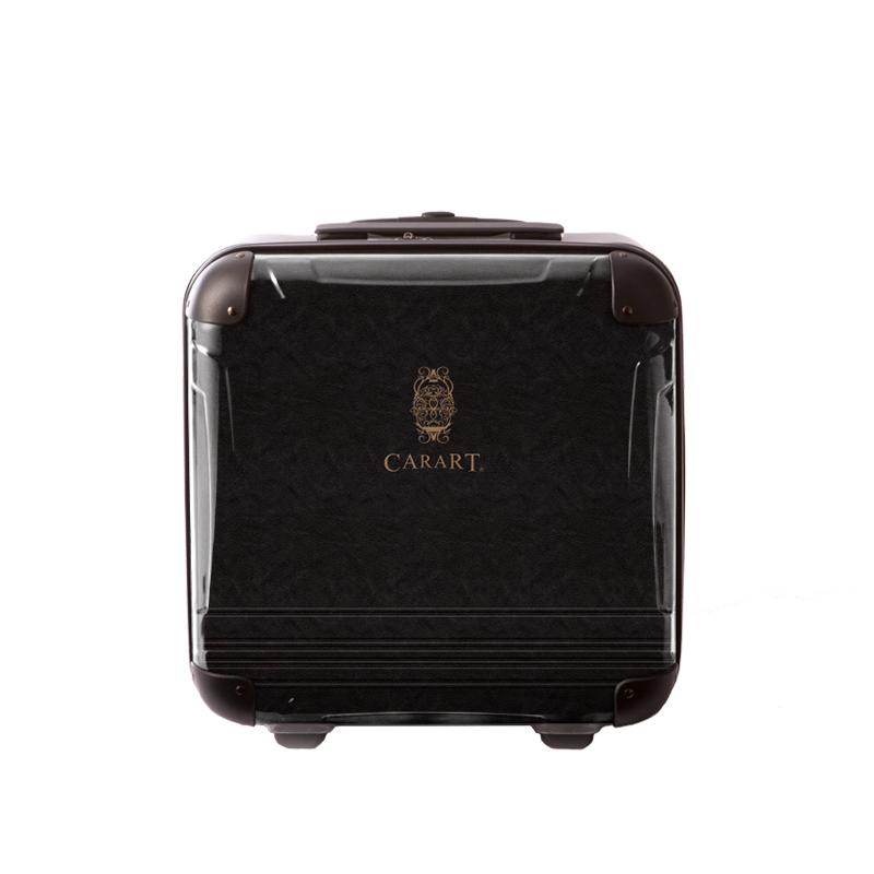 アートスーツケース|ビジネス ナイト(ダークグレー)|ジッパー2輪|機内持込|キャラート