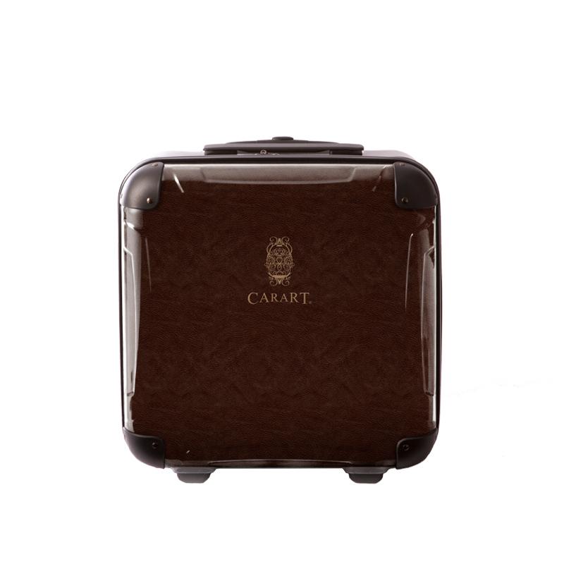 アートスーツケース|ビジネス ナイト(ブラウン)|ジッパー2輪|機内持込|キャラート