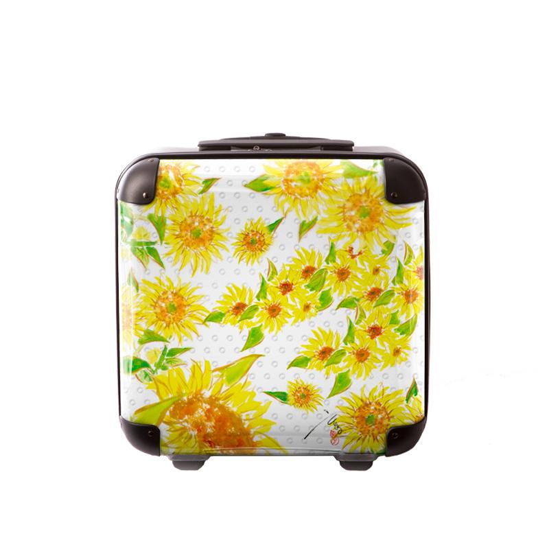 アートスーツケース|古屋育子 ヒマワリ1|ジッパー2輪|機内持込|キャラート